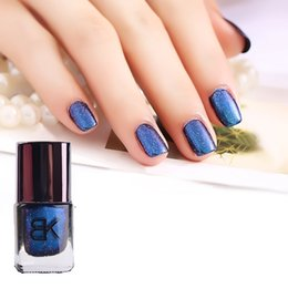 Wholesale Import Nail Art - Wholesale-BK Professional Nail Art The starry sky phantom Color change nail polish Imported laser powder Persistent Shining star nail