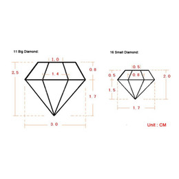 Wholesale Diamond Mould - 3D Diamond Shap Ice Cube Tray Cholocate Mould Flexible Food Grade Silicone,The Romantic and noble ice in the hot summer
