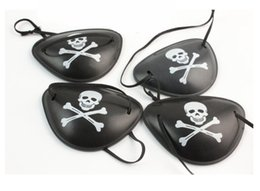 Wholesale Pirate Costume Kids - Pirate Eye Patch Skull Crossbone Halloween Party Favor Bag Costume Kids Toy