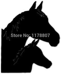 Wholesale Family Stickers Cars - Wholesale 20pcs lot Automobile and Motorcycle with Products Vinyl Decal Car Stickers Glass Stickers Scratches Sticker Horse Family