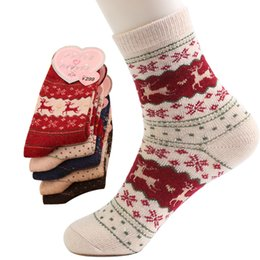 Wholesale Ladies Colorful Socks - Wholesale-(5Pair lot)2016 New Style Wool Socks Women Winter Thermal Warm Socks Female Crew Fashion Colorful Thick Socks Ladies Casual Sock