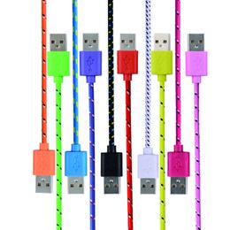 transfert de câble Promotion 1m 2m 3m câble tressé Micro USB type c ronde fibre tissu en nylon tissé transfert de données Cordon de charge pour téléphone portable Smartphone samsung