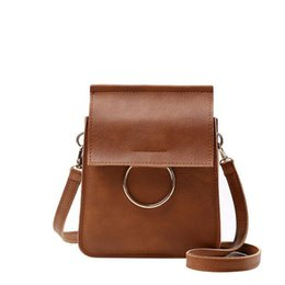 Wholesale Ladies Handbags Leather Wholesale - Wholesale- Women Shoulder Bag Leather New Brand Female Message Crossbody Bag Luxury Ladies Mini Smart Handbags Women Bag Bolsa Feminina
