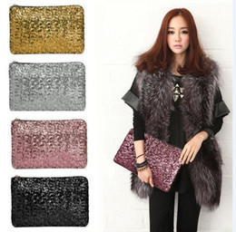 Wholesale Sequin Glitter Wallet - 2016 HOT sale Dazzling Glitter Sparkling Bling Sequins Evening Party purse Bag Handbag Women Clutch wallet free DHL