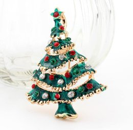 Wholesale Solid Acrylic Ornaments - 2016 Christmas Brooches pins Wedding Collar Clip Scarf Buckle Accessory Fashion Jewelry Brooches decorations Best Gift For Women