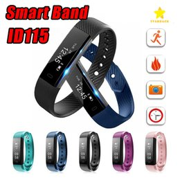 Wholesale distance watch - ID115 Smart Band Bracelet Fitness Tracker Watch Wireless Touch Screen Sleep Monitor Activity Step Distance Calorie Counter for Android  IOS