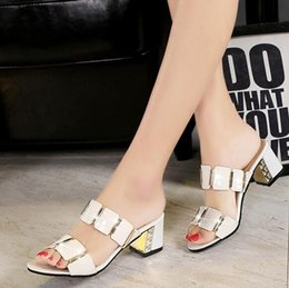 Wholesale Korean Fashion Slippers - 2017 new sandals in the summer with the Korean version of the ladies fashion slim with cool slippers outside wearing wild shoes