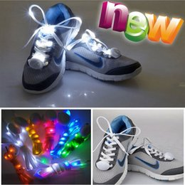 Wholesale Lace Strap Shoes - 9th Updated 10pcs Led Light up Flash Luminous Shoelace Fashion Glowing Stick Strap Shoe laces Flashing Neon led Party Laces