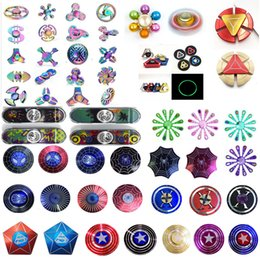Wholesale 2017 Newest Arrival Fidget Spinner Captain America HandSpinner Spider Man Finger Gyro Finger EDC For Decompression Toy Anxiety Hand Spinner