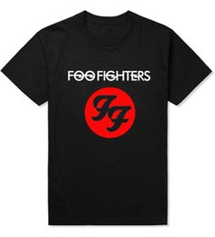 Wholesale nirvana top - Wholesale- New Fashion Foo Fighters Hard Rock And Roll Band T Shirts FF Letters Printed Dave Grohl Guitarist Nirvana T-shirt Top Tees