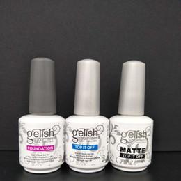 Wholesale Harmony Nail Polish - Harmony gelish polish LED UV nail art gel TOP it off and Foundation nails Top coat Base coat wa2675