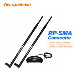 Wholesale Wireless Modem Antennas - Wholesale- 20dBi High Gain Wireless Antenna long Coverage 2.4GHz RP-SMA OMNI Wifi Antenna COMFAST CF-ANT2410DA for PCI Card Modem Router