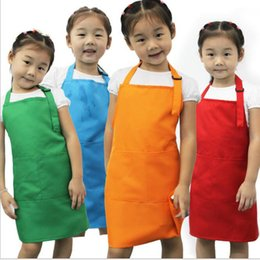 Wholesale Universal Paint - Child Baby Kindergarten Painting Aprons Antifouling Cuffs Easy To Wash Dry Durable Pinafore All Seasons Can Be Used Apron Universal
