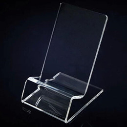 Wholesale Iphone Holder Acrylic - Universal General Clear Transparent Acrylic Mount Holder Display Stand Shown for Iphone Samsung Cellphone Mobile Phone