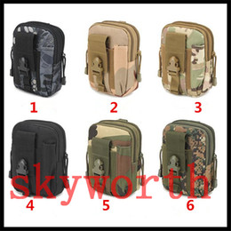 Wholesale Holsters For Cellphones - Universal Outdoor Tactical Holster Military Molle Hip Waist Belt Bag Wallet Pouch Purse Phone Case with Zipper for Cellphone iphone