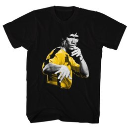 Wholesale Bruce High Quality - BRUCE LEE HOOOWAH BLACK T-Shirt Funny O-Neck T-shirt High Quality For Man Better