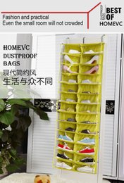 Wholesale 26 Pockets Transparent Hanging Closet Layers Foldable Door Hanging Shoes Storage Bag Multi purpose Hanging Bag Excellent Shoes Organizer