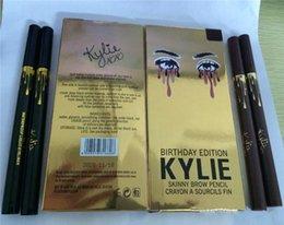 Wholesale Birthday Pencils - Kylie Birthday Edition Leo waterproof Black Eyeliner Liquid Make Up Beauty Eye Liner Pencil Gold Kylie Eyeliner Pencil 2 Colors free ship