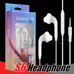 Wholesale Chinese Universal Remote - For Samsung S6 Earphone In-ear 3.5mm Headphones For iPhone 6 In Ear Headset With Mic & Remote Volume Control with Retial Box