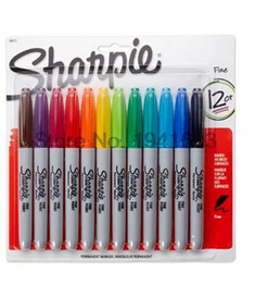 Wholesale American Fine Arts - 12Pcs  Lot 12Colors American Sanford Sharpie Permanent Markers ,Eco -Friendly Marker Pen ,Sharpie Fine Point Permanent Marker