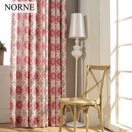 Wholesale Printed Curtain Panels - Norne Modern Printed curtains for living room bedroom kitchen curtains Privacy Assured floral Window Treatment Blackout Curtain Panel Drapes