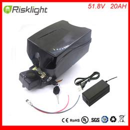 Wholesale Electric Drive Motor Bike - Powerful 52v frog type battery 51.8v 20ah li ion electric bike battery pack for bafang 8fun bbso2 mid drive 48v 1000w motor kit