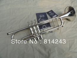 Wholesale Speakers Series - Wholesale- Custom Type Bach Bb Trumpet Professional Series Small The Speaker Silver Plated Surface Bb Trumpet Musical Instrument