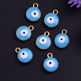 Wholesale Greek Eye Bracelets - Wholesale- Fashion Lucky Greek Blue Evil Eye Charm Pendant Protection Religion Gift DIY Necklaces Bracelet Jewelry Accessories