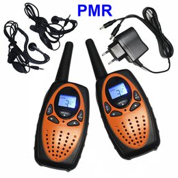 Wholesale Two Way Radio Charger - 2PC TS628 1w Portable Walkie Talkies Interphone PMR Two Way Ham Radio Transceiver Dual Monitor with Earphones Charger