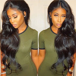 Wholesale Malaysian Hair Silk - Body Wave Brazilian Non Remy Human Hair Silk Base Glueless Full Lace Wigs For Black Women Pre Plucked