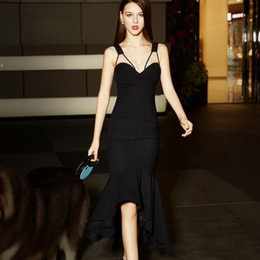 Wholesale Cheap Maternity Special Occasion Dresses - Cheap Sexy V-Neck Mermaid Homecoming Dresses Backless ruffle sleeveless Plus Size Hi-Lo Dress Evening Wear for 16 years girl