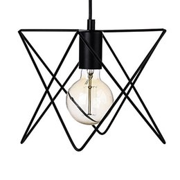 Wholesale New Store Promotion New design Industrial Mini Edison Ceiling Pendant Light Style Bar Loft Metal Cage Art Painted Finish Light