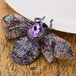 Wholesale Bee Brooches Pins - Wholesale- Very Nicely Bee Brooch Big Size Brooches Accessories Fashion Women Hijab Pins And Hat Accessories Vintage Broaches Broches Woman
