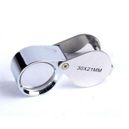 Wholesale Loupe Jewelers Wholesale - Retail Package 30 x 21 mm Jewelers Eye Magnifying Glass Magnifier Loupe Pocket Loupes Free Shipping wa3025