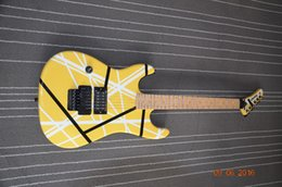 Wholesale Guitar Strips - Factory made light yellow strip design Kramer 5150 guitar Floyd rose bridges Custom shop Color can choose