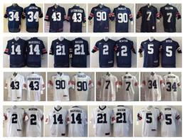Wholesale Auburn Tigers Football Jersey - Auburn Tigers Men Jersey 34 JACKSON 43 LUTZENKIRCHEN 90 FAIRLEY 7 SULLIVAN 2 NEWTON 14 MARSHALL 21 MASON 5 DYER Men College Football Jerseys