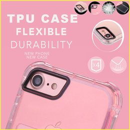 Wholesale Transparent Cards Wallet - For iPhone 7 6s Mobile Phone Case with Card Slot Pocket TPU Transparent Creative Protection Soft Case with Opp Package