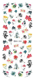 Wholesale Minx Foils - Wholesale- DS282 DIY Water Transfer Foils Nail Art Sticker Chinese Style Ink Paiting Flowers Manicure Decals Minx Nail Decorations Tools
