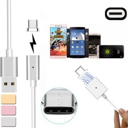 Wholesale Android Magnets - Magnetic Charger Cable Micro USB Magnet Cable Data Sync 3 feet Data Line Cables For ip6 Samsung HTC Huawei Android Opp Bag