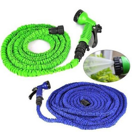 Wholesale expandable garden - 100FT New Expandable Flexible Magic Garden Water Hose Garden Hose For Car Water Pipe Plastic Hoses To Watering With Spray CCA6340 24pcs