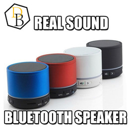 Wholesale Home Music Speakers - S11 bluetooth speaker wireless portable mini car music player handfree led light ring Hi-fi music player TF card supported for home audio
