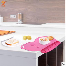Wholesale Dish Child - Dining Mat Children Chuck Silicone Baby Table Mat Portable Waterproof Food Tray Dish Plate Mats For Kid Baby Dinner Plates Christmas
