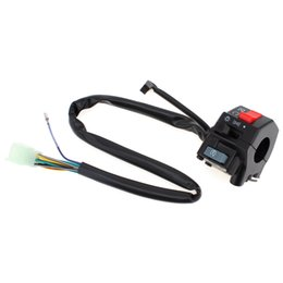 Wholesale Horn Switches - Hot 2pcs Universal 7 8inch Motorcycle Handlebar Horn Turn Signal Light Controller Switch On Off Button AUP_20K