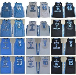 Wholesale Heels 44 - Cheap North Carolina Tar Heels 2 Joel Berry 5 Marcus Paige 11 Brice Johnson 15VinceCarter 40 Harrison Barnes 44 Justin Jackson College shirt