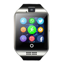 Wholesale Screen For Android - Q18 Passometer Smart Watch with Touch Screen Camera TF Card Bluetooth Smartwatch for Android IOS Phone