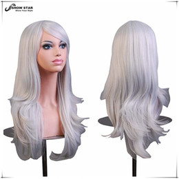 """Wholesale Long Curly Blonde Pink Wigs - SHOWSTAR Hot 28"""" Long Curly Brown,Blue,Red,Grey,Blonde Wig Cosplay Anime Lolita Synthetic Wigs for Womens Party Pelucas Perruque Cosplay wom"""