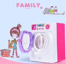 2019 bâtiments électriques la machine à laver jouets / Little Treasures Baby Home Miniature blanchisserie Ensemble pour enfants / filles jeu