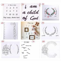 Wholesale Kids Photography Backdrops - ins newborn photography background props baby photo prop fabric backdrops easter infant blankets wrap letter soft blanket ins cloth mat kid