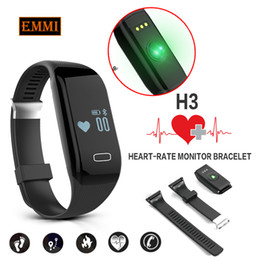 Wholesale Smartphone Heart Monitor - Wholesale-New H3 Smart Band Bracelet & Heart Rate Monitor Activity Fitness Tracker Wristband for IOS & Android Smartphone