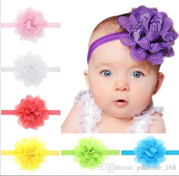 Wholesale Chiffon Flower Lace Hair Accessory - 13-color Christmas baby girl Chiffon Lace Flower headband Design Children Headwear Kids Baby Christmas Day Hair Accessory free shipping